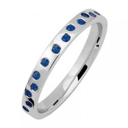 Fidelis Aléatoire 0,32 ct Saphirs bleus Or blanc