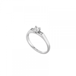 Solitaire Anna, Or gris, 0,30 ct