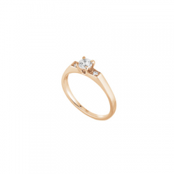 Solitaire Anna, Or rose, 0,30 ct